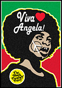 Black Panther Party Posters - Viva Angela Davis Poster by Stanley Slaughter Jr