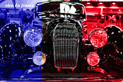 French Cars Prints - Viva La France . 1938 Talbot Lago T150-C Speciale Teardrop Coupe Print by Wingsdomain Art and Photography