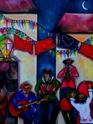 Riverwalk Paintings - Viva La Musica by Patti Schermerhorn