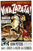 Zapata Prints - Viva Zapata, Marlon Brando, Jean Print by Everett
