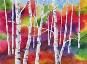 Birch Trees Originals - Vivid Autumn by Deborah Ronglien