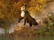 Vixen By The River Print by Daniel Eskridge