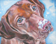 Christmas Dog Posters - Vizsla Poster by Lee Ann Shepard