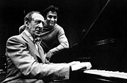 Vladimir Posters - Vladimir Horowitz, With Zubin Poster by Everett
