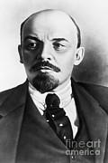 Bolsheviks Posters - Vladimir Lenin, Russian Marxist Poster by Photo Researchers