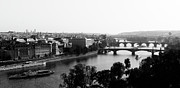 Arch Bridge Prints - Vltava River At Prag Print by Jörg Wendland