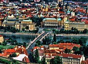 Vltava Paintings - Vltava River Prague by Dean Wittle