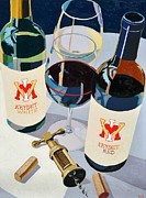 Virginia Wine Art Prints - VMI Red and White Number One Print by Christopher Mize