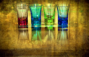 Bartender Prints - Vodka Glasses Print by Svetlana Sewell
