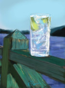 Summer Vacation Framed Prints - Vodka Tonic Framed Print by Russell Pierce