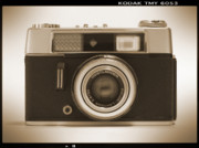 Sepia Tone Framed Prints - Voigtlander Rangefinder Camera Framed Print by Mike McGlothlen