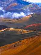 Volcanic Crater In Maui Print by Debbie Karnes