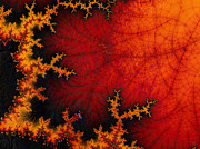 Self-similar Posters - Volcanic Fractal Poster by Nafets Nuarb