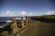 Devotional Art Photo Posters - Volcanic Rock Statues, Called Moai Poster by James P. Blair