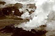 Gaspar Avila Framed Prints - Volcanic steam Framed Print by Gaspar Avila