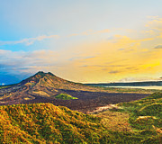 Crater Lake Twilight Prints - Volcano Batur Print by MotHaiBaPhoto Prints
