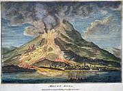 Volcano: Mt. Etna Print by Granger