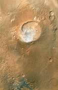 Volcano Prints - Volcano On Mars Print by Nasa