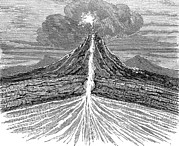 Volcano Prints - Volcano Section, 19th Century Artwork Print by