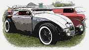 1932-1937 Framed Prints - Volkswagon Custom Framed Print by Steve McKinzie