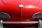 Red Cars Photo Framed Prints - Volkswagon Karmann Ghia . 7D15469 Framed Print by Wingsdomain Art and Photography
