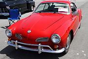 Red Cars Photo Framed Prints - Volkswagon Karmann Ghia . 7D15470 Framed Print by Wingsdomain Art and Photography