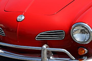 Red Cars Photo Framed Prints - Volkswagon Karmann Ghia . 7D15471 Framed Print by Wingsdomain Art and Photography