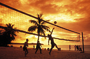 Guam Framed Prints - Volleyball at Sunset Framed Print by Greg Vaughn - Printscapes