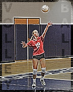 Girl Sports Posters - Volleyball Girl Poster by Kelley King