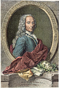 Enlightenment Posters - Voltaire (1694-1778) Poster by Granger