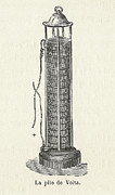 Alessandro Volta Prints - Voltas Battery Print by Science, Industry & Business Librarynew York Public Library