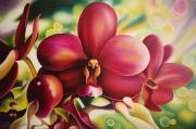 Orchid Art Paintings - Voluptuous by Barbara Eberhart - Printscapes
