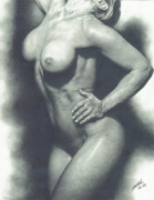 Nudes Drawings Originals - Voluptuous by Maciel Cantelmo