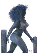 Voluptuous Painting Posters - Voluptuous Woman  Poster by Rhetta Hughes