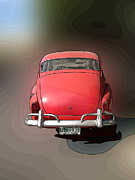 Antique Automobiles Mixed Media - Volvo back by Jesus Nicolas Castanon