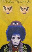 Jimi Hendrix Pastels Originals - Voodoo Child by Mike Mitch