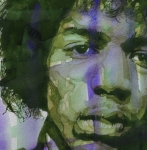 Jimi Hendrix Paintings - Voodoo Child by Paul Lovering
