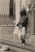 Kathleen K Parker - Voodoo Man in Jackson Square New Orleans- sepia