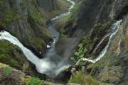 Norway Prints - Voringsfossen Waterfall Print by Terence Davis