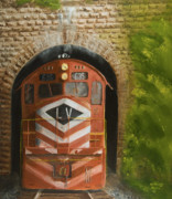 Trains Painting Prints - Vosburg Tunnel Print by Christopher Jenkins