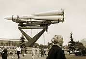 Astronautical Engineering Prints - Vostok Rocket, Moscow, Russia Print by Detlev Van Ravenswaay
