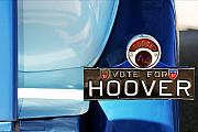 Vote Prints - Vote For Hoover Car Plate Print by Jill Reger