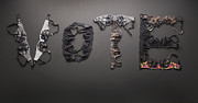 Social Issues Art - Vote Spelled With Bras by Shana Novak