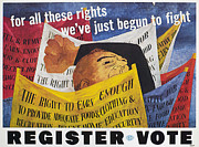 Democratic System Posters - Voter Registration Poster Poster by Granger