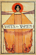 Text Photo Framed Prints - Votes For Women, 1911 Framed Print by Granger