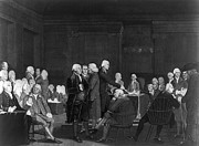 Declaration Of Independence Prints - Voting Independence, 1776 Print by Granger