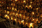 St Photos - Votive Candles by John Greim
