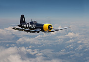 Australian Digital Art - Vought F4U - Corsair by Pat Speirs
