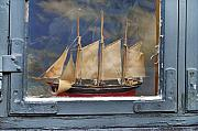 Sailing Vessel Photos - Voyage in a Window by Robert Lacy