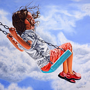 Swing Paintings - Voyage to freedom- Viaje a la libertad by Rezzan Erguvan-Onal